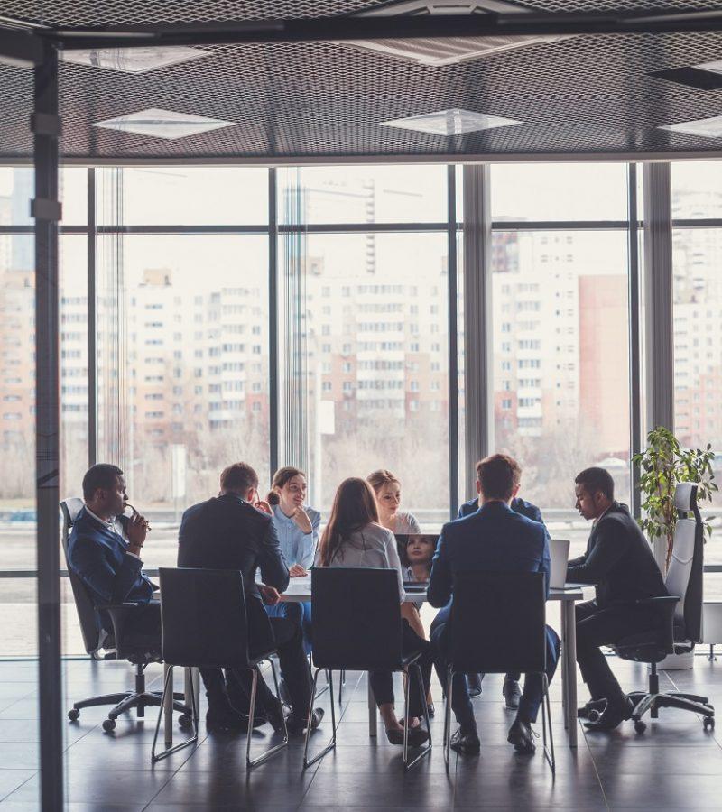 Reunión de empresa de gestión de crisis